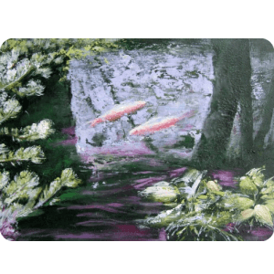 custom fish painting from photo impressionist style