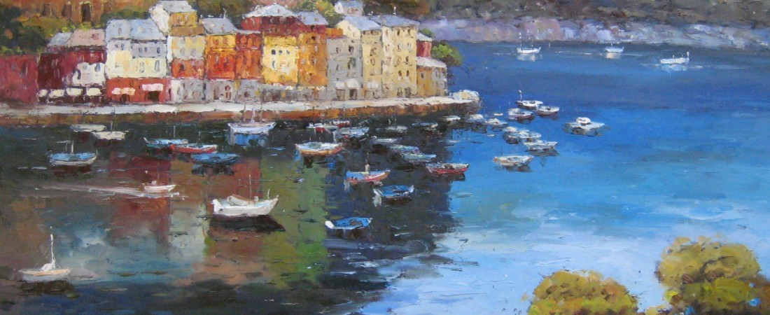 custom painting of Mediterranean